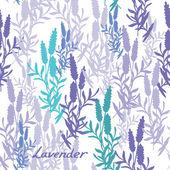 Seamless lavender pattern — Stock Vector