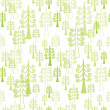 Christmas forest - naadloze patroon — Stockvector
