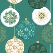 Seamless christmas pattern with christmas decorative balls — Stockvectorbeeld