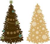 Set of new year tree — Stock Vector