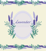 Lavender decorative frame — Stock Vector