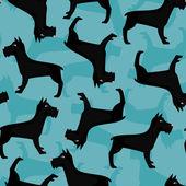 Schnauzer pattern — Stock Vector