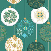 Seamless christmas pattern with christmas decorative balls — Stock Vector