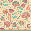 Seamless decorative floral pattern — Stock vektor