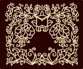 Decorative laced floral pattern — Stock Vector