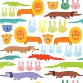 Afrikaanse dieren naadloze patroon — Stockvector