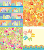 Brazil patterns set — Stock Vector