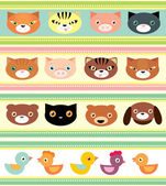 Set of pets — Stock Vector