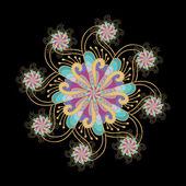 Element dekoracyjny - gwiazda — Wektor stockowy