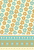 Seamless textile floral pattern — Stockvector