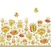Floral decor for paper — Stock Vector