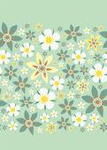 Seamless floral border — Stock Vector