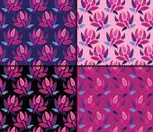Wzory bez szwu tulipany — Wektor stockowy