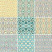 Kesintisiz geometrik desenler — Stok Vektör