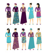 Woman silhouettes — Stock Vector
