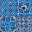 Seamless decorative patterns — Stockvectorbeeld