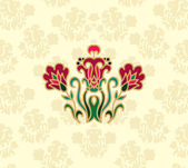Seamless floral pattern with floral composition — Stock Vector