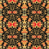 Seamless laced floral pattern — Stock Vector