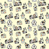 Pattern houses — Stock Vector