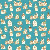 Pattern german houses — Stock Vector