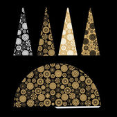 Decorative christmas tree — Stock Vector