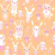 Rabbits pattern — Stock Vector