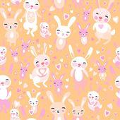 Rabbits pattern — Stock Vector