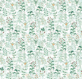 Pattern with wild herbs — Stock Vector