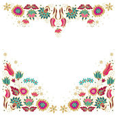 Floral borders — Stock Vector
