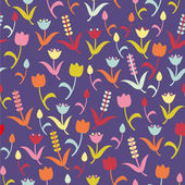 Seamless floral vector pattern — Stock Vector