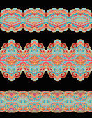 Laced ribbons — Vector de stock