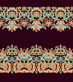 Decorative floral patterns — Wektor stockowy