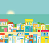 Beach town view — Stock Vector