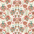 Paisley floral pattern with flowers — Stock Vector #45441009