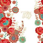 Seamless rose pattern — Stock Vector