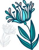 Elemento floral — Vector de stock