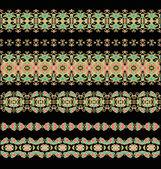 Бесшовные декоративные ленты — Cтоковый вектор