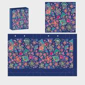 Floral pakketontwerp — Stockvector