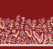 Seamless floral border design — Vector de stock