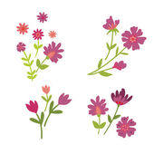 Set of flowers — Stock Vector