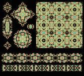 Seamless decorative patterns — Stock Vector