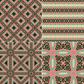 Seamless decorative oriental  patterns — Stock Vector