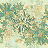 Floral green background — Vector de stock