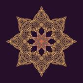 Arabic rosette-star — Stock Vector
