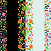 Floral border pattern — Vector de stock