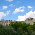 Roman theater Acropolis hill Athens Greece — Stock Photo