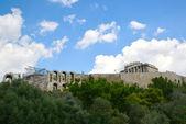 Acropole de théâtre romain hill athènes grèce — Photo