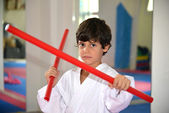 Martial Arts boy — Stock Photo