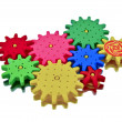 Stock Photo: Colorful plastic cogwheels