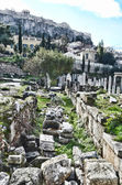 Street view from the central historic area of Athens Greece — Foto Stock